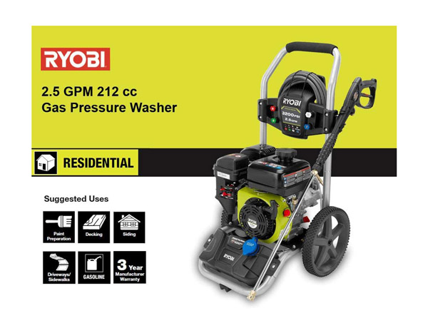 Ryobi RY80588A Commercial Pressure Washer Review